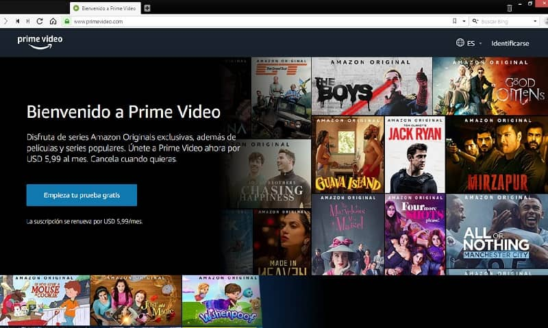 Peliculas y series de Amazon Prime Video