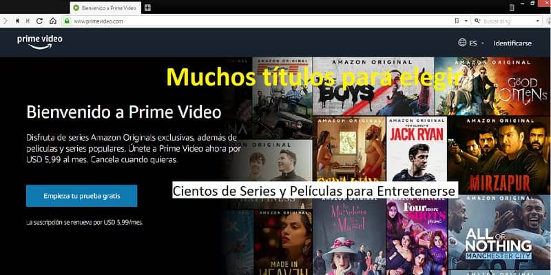 Contenido para ver en Amazon Prime Video