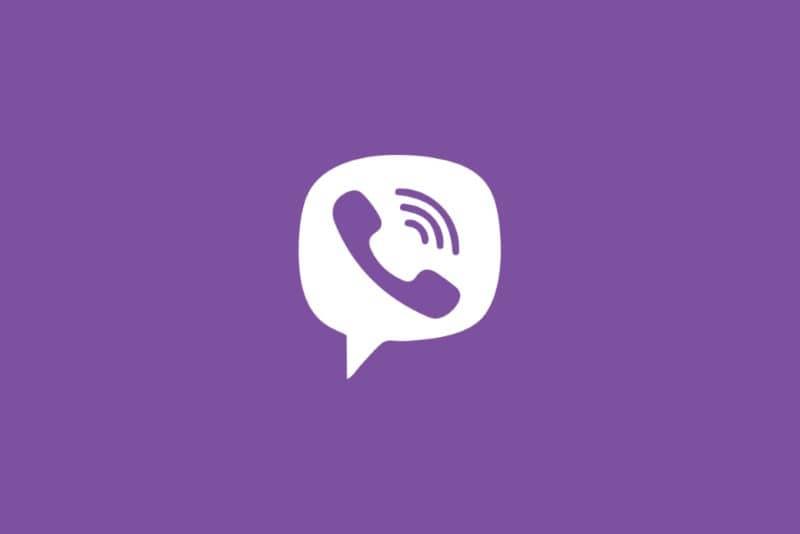Logo Viber en vector con fondo morado