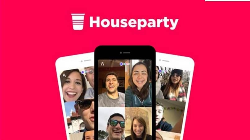 usando aplicación houseparty