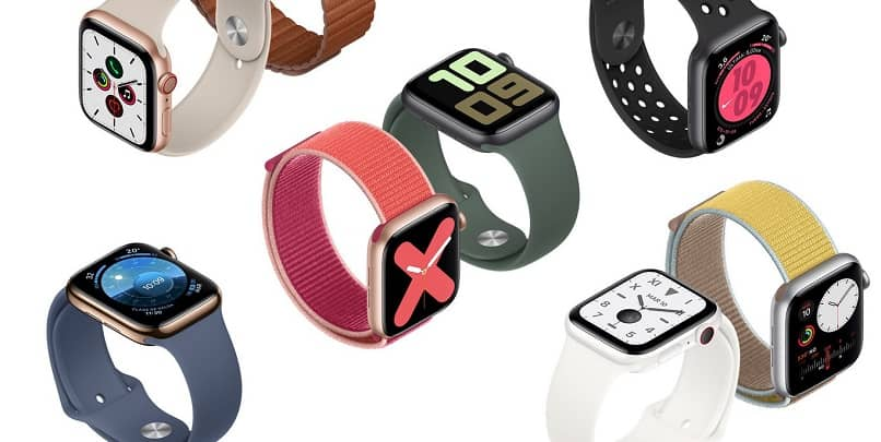 apple watch de varios colores
