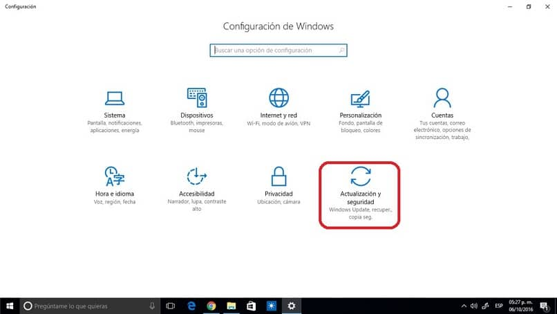 Panel de Control Windows 10