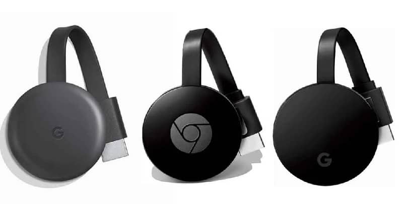 dispositivos chromecast negros
