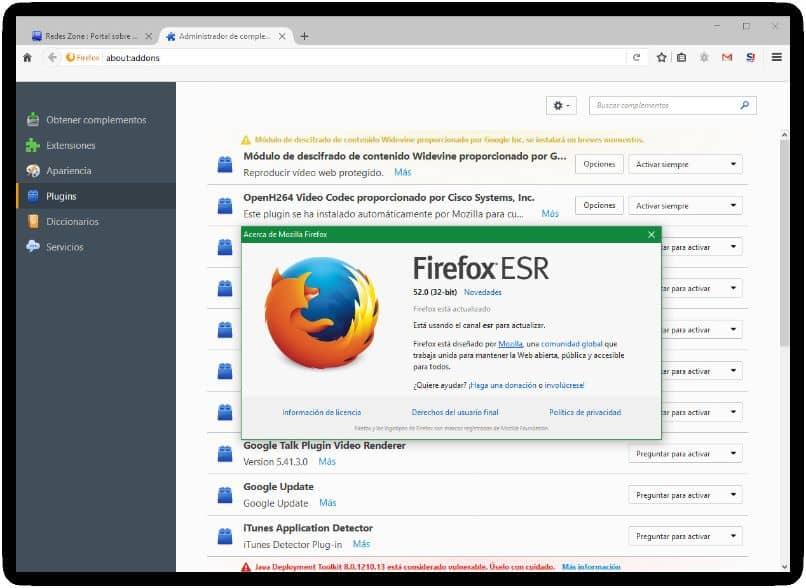 habilitar navegador firefox