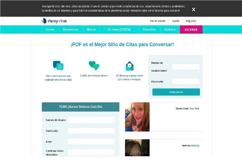 sitio web original de POF