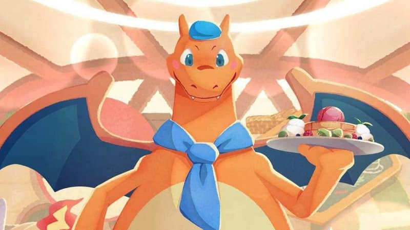 Charizard en Pokemon Cafe Mix