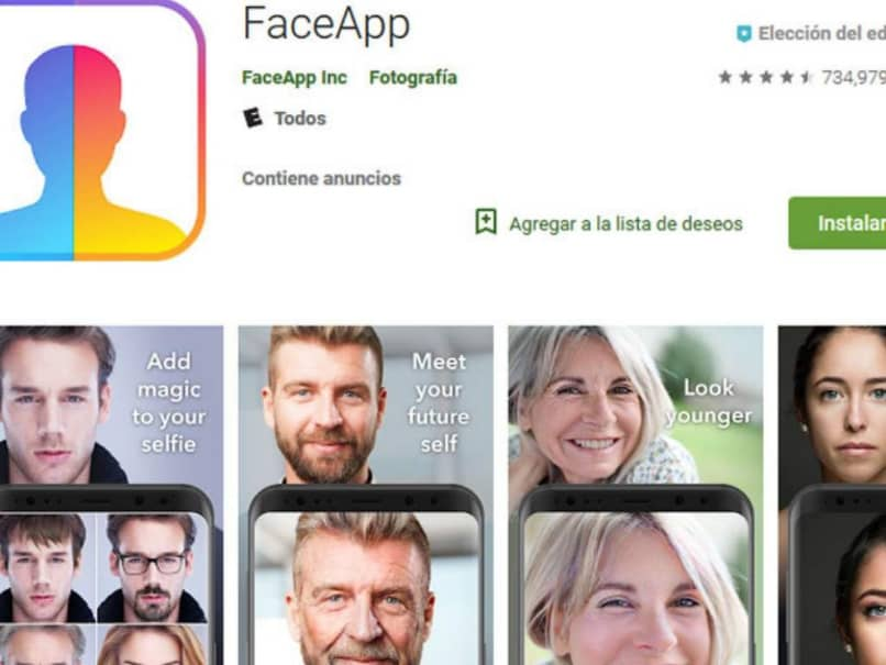 FaceApp en la Play Store