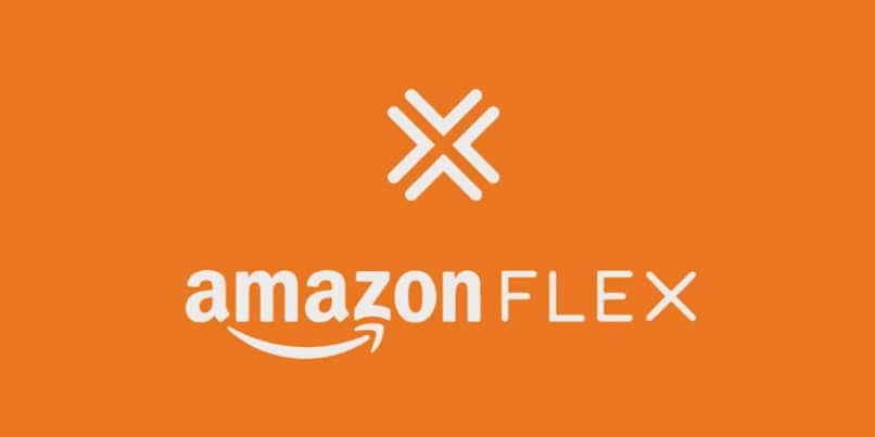 Logo Amazon Flex fondo naranja