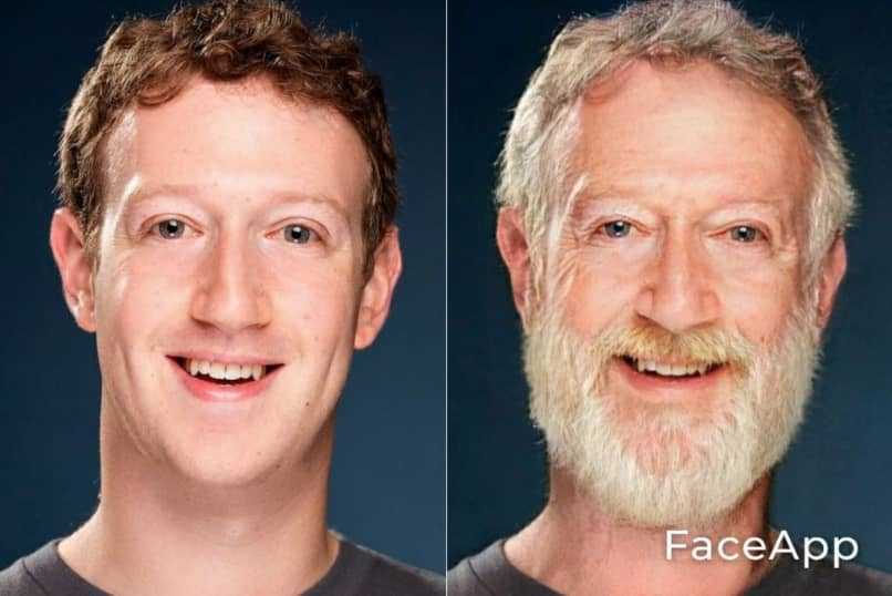 Mark Zuckerberg viejo con FaceApp