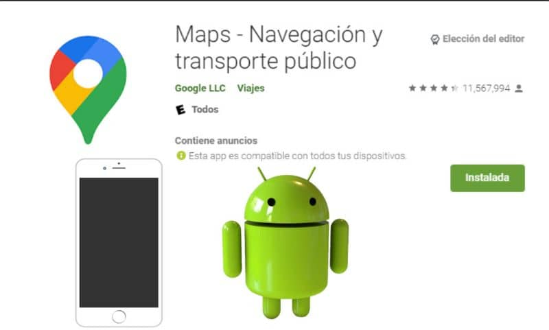 Play Store, Maps