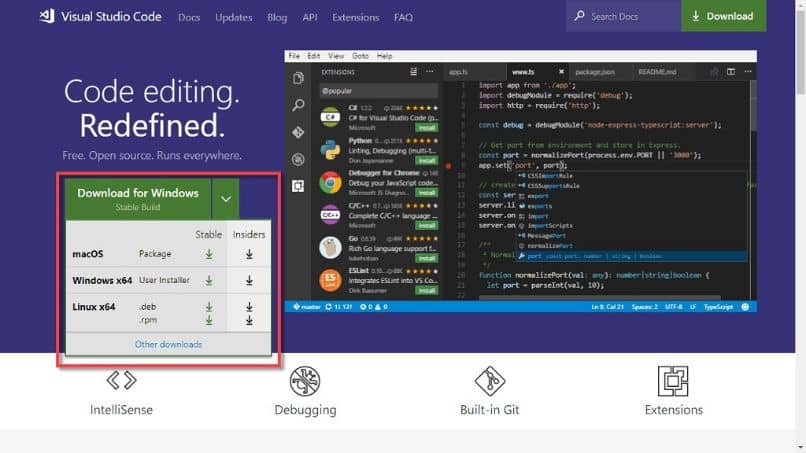descargar visual code studio