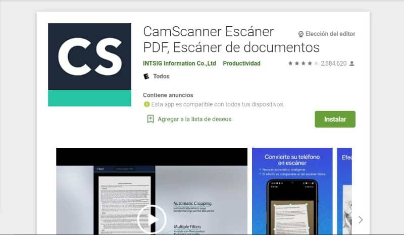 Play store CamScanner
