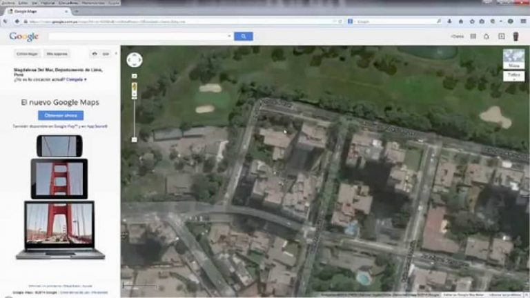 toma captura pantalla google maps
