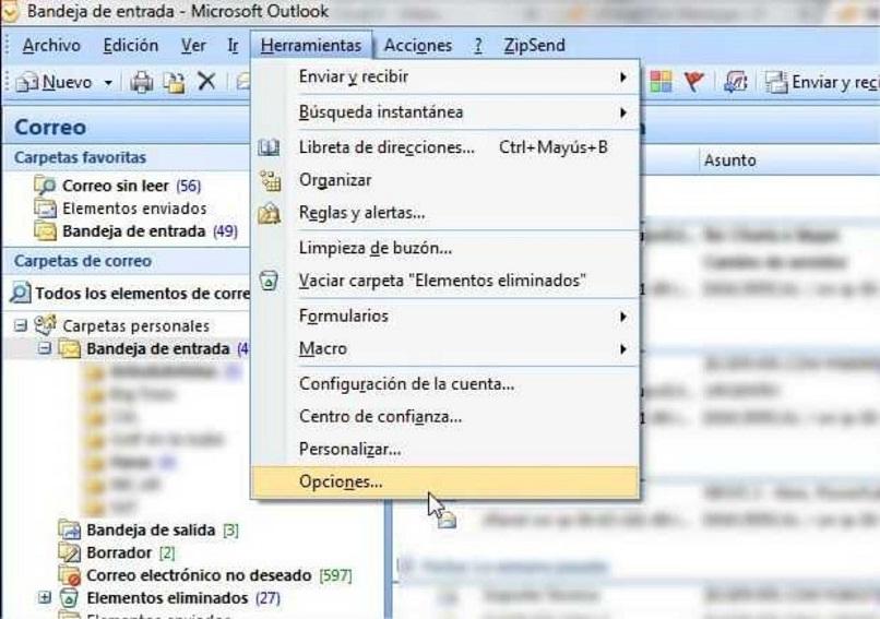 Pasos para eliminar correos automáticamente en Outlook