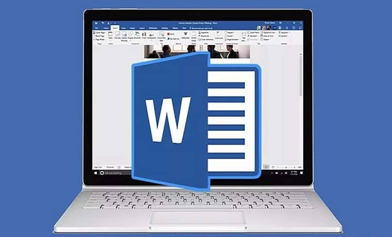 icono de word con laptop