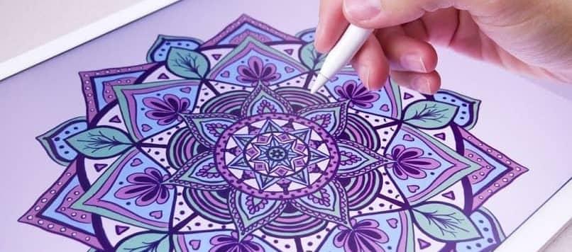 colorear mandala tablet