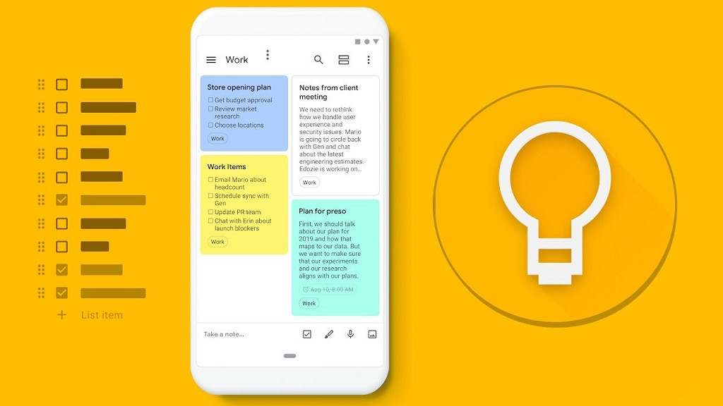 Crea Notas con Google Keep